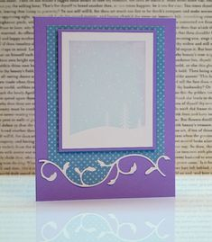border die cut from white and dotted paper - white border inserted into dotted paper negative