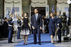 Le roi Felipe VI et la reine Letizia d'Espagne, accompagnés par la reine Sofia, présidaient la cérémonie des Prix Princesse des Asturies le 23 octobre 2015 au Théâtre Campoamor à Oviedo.