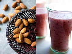 Strawberry and Almond Smoothie - Recipe from the New York Times