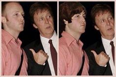 'IF YOU PUT A BEATLES WIG ON JAMES HE LOOKS LIKE A YOUNG PAUL.'