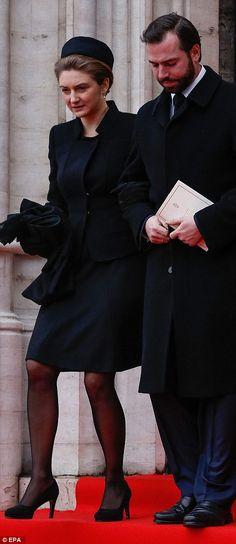 Hereditary Grand Duchess Stephanie and Hereditary Grand Duke Guillaume of Luxembourg.