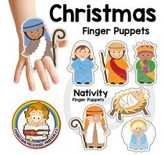 If you are looking for some hands on fun this Christmas, try out these adorable Nativity Finger Puppets! I've created these puppets to be just the right size for your preschool classroom, simply print on carstock, Laminate and then punch out the finger holes.  (Do be careful to keep the edges smooth….try using a hole …