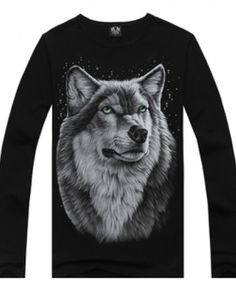 Promo Offer Hot sale Plus Size Leisure autumn and winter cotton long sleeved male T-Shirt fashion brand men& t shirt wolf pattern 3d T Shirts, Mens Tee Shirts, Casual Shirts, Male T Shirt, Spring T Shirts, Pet Clothes, Fashion Brand, Mens Fashion, Shirt Style