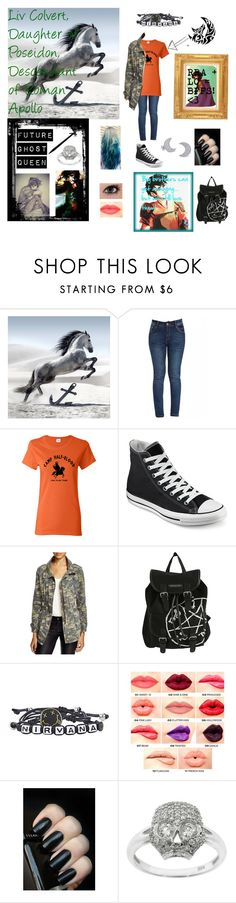 """""""Liv Colvert, daughter of Poseidon, descendant of Roman Apollo"""" by southgamer2252 ❤ liked on Polyvore featuring Converse, Velvet, GARMA, NYX, Eternally Haute, Bling Jewelry, women's clothing, women, female and woman"""