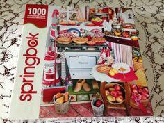 SPRINGBOK-JIGSAW-PUZZLE-GRANDMAS-KITCHEN-1000-PIECES-COMPLETE-VINTAGE-KITCH