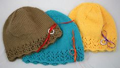 Simple to knit Chemo Caps   If you can knit, how about knitting  one of these!?