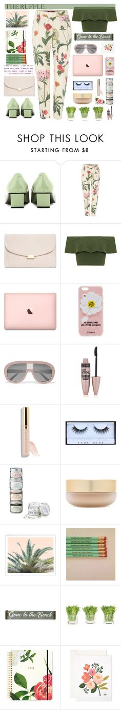 """""""the tropical style beach"""" by licethfashion ❤ liked on Polyvore featuring Roger Vivier, MaxMara, Mansur Gavriel, WearAll, Iphoria, STELLA McCARTNEY, Maybelline, Huda Beauty, Eve Lom and New View"""