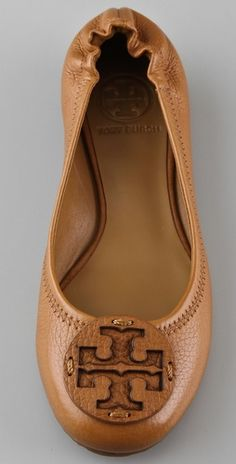 Tory Burch Camel Flats. Everyone just needs a pair okay.
