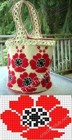 crochet wayuu bags pattern More La fleur peut servir pour faire un potholder Crochet Back Scrubbie - Crochet : PuntoTridimensional # 2 The place where construction meets design, beaded crochet is the act of using beads to embellish crocheted items. Crochet Shell Stitch, Crochet Chart, Diy Crochet, Tunisian Crochet, Crochet Flower, Crochet Handbags, Crochet Purses, Crochet Bags, Mochila Crochet