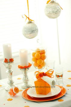 Table Decor- use different fruit for each table- coordinate with event colors