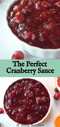 Homemade Cranberry Sauce with Grapefruit and Mandarin. The perfect blend of  sweetness and tartness. Perfect for holiday meals or as a kitchen staple this winter. Naturally gluten free and dairy free. Gluten Free Sides Dishes, Gluten Free Desserts, Dairy Free Recipes, Dessert Recipes, Holiday Meals, Holiday Recipes, Best Cranberry Sauce, Dairy Free Diet, Turkey Sandwiches