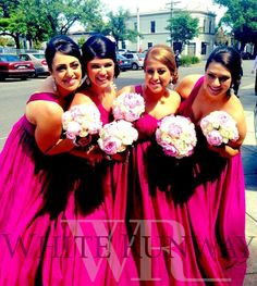 Lovely pink bridesmaids!