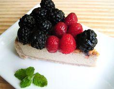 Blackberry Raspberry Cheesecake from Flash Fiction Kitchen (paleo, AIP, vegan)