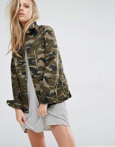 Image 1 - Pull&Bear - Veste fonctionnelle motif camouflage