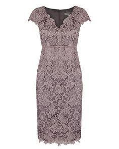 Bridesmaids? Blush Guipure Lace Dress - Anthea Crawford