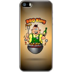 BBQ King By CardVibes for Apple iPhone 5/5s#TheKase #Cardvibes #Tekenaartje #iPhone #Smartphone #cover #case