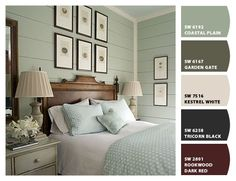 Sherwin Williams Coastal Plain - considering for kitchen. What else will tie in the green marble but work w beachy colors?
