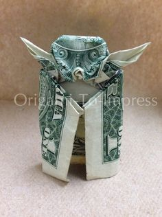 Birthday Gift Ideas for Teens: Star Wars Yoda One Dollar Bill Money Origami by Origami To Impress @ Etsy