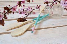 Chèvre culinaire: DIY Two-Tone Wooden Spoon // Frühlingsfrisches Kochgeschirr