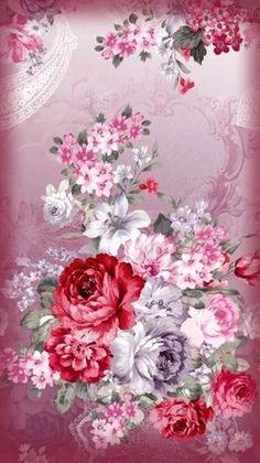 Vintage Flowers Wallpaper, Rose Flower Wallpaper, Wallpaper Nature Flowers, Flowery Wallpaper, Flower Background Wallpaper, Beautiful Flowers Wallpapers, Butterfly Wallpaper, Butterfly Art, Flower Backgrounds