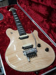 EVH Wolfgang USA. So beautiful. Probably the best guitar Fender Corp makes.    lessonator.com