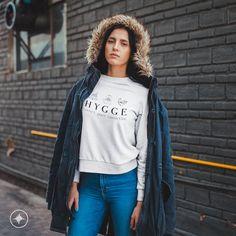 HYGGE Sweatshirt - Comfort - Peace - Connection - Danish Definition for Happiness - Wear Your Hygge - Mindfulness - Scandinavian Folk Design Korean Outfits, Hygge, Rib Knit, Crew Neck Sweatshirt, Fashion Forward, Cool Style, T Shirts For Women, Unisex, Sweatshirts