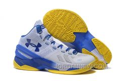 http://www.jordannew.com/under-armour-curry-two-white-blue-yellow-authentic.html UNDER ARMOUR CURRY TWO WHITE BLUE YELLOW AUTHENTIC Only $89.00 , Free Shipping!