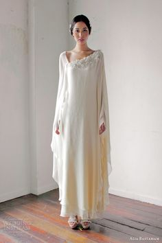 alia bastamam wedding dresses 2013 kaftan cape style gown...pretty. Not sure I could pull it off but very very pretty.