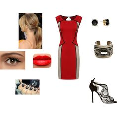 Lady In Red by lulu-linda on Polyvore