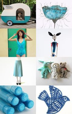 Turquoise Smile---- by talma vardi on Etsy--Pinned with TreasuryPin.com