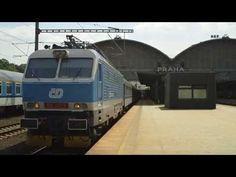 """Odjezd lokomotivy 150 221 """"Banán"""" z Prahy hl.n. - YouTube"""