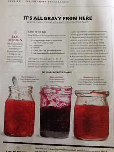 Easy fruit jam- southern living may 2014