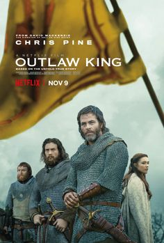 Outlaw King with Chris Pine and Aaron Taylor-Johnson is coming to Netflix soon . Aaron Taylor Johnson, 2018 Movies, Netflix Movies, Movies Online, Movie Tv, Movies Free, Marvel Movies, Horror Movies, Chris Pine
