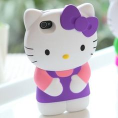 £10.00  Cute Lovely Cat 3D hard Back Case Cover Skin for iPhone 4 4G 4S PURPLE by @theia, http://www.amazon.co.uk/dp/B007TI2DKQ/ref=cm_sw_r_pi_dp_yoamrb1F42P1N