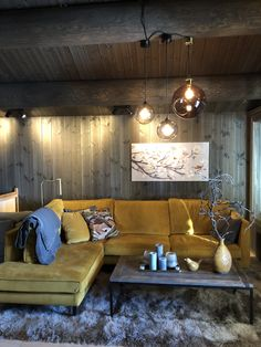 Mountain Modern, Cabin Interiors, Sofa, Couch, Most Beautiful Pictures, In The Heights, Interior And Exterior, Ceiling Lights, Cottages