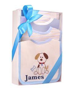 "Personalized ""Puppy Dog Tails"" 6-Piece Bibs"