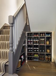 Hallway shoe storage by under stair storage bespoke storage hallway storage shoe hallway coat storage ideas . Hallway Coat Storage, Coat And Shoe Storage, Diy Shoe Storage, Stair Storage, Closet Storage, Storage Shelves, Storage Ideas, Understairs Shoe Storage, Food Storage