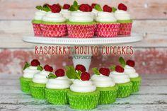Raspberry Mojito Cupcakes | JavaCupcake.com