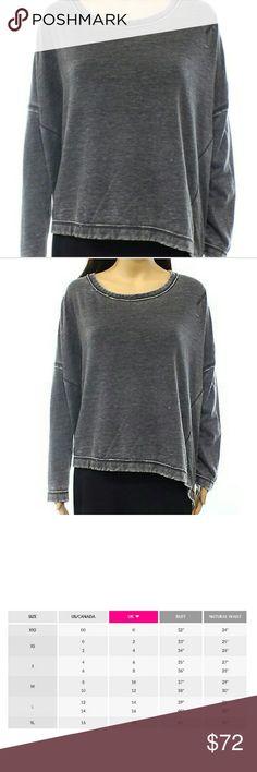 Free people gray coal sweatshirt Awesome sweatshirt! Never worn brand new with tags. Retails for $98 Free People Tops Sweatshirts & Hoodies