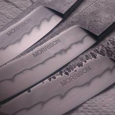 After some etching and polishing.   #etch #polish #customknives #handforged #bladesmithing #custommade #knife #Melbourne #Australia