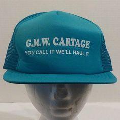 Vintage GMW Cartage Baseball Truckers Hat Cap #AJM #BaseballCap
