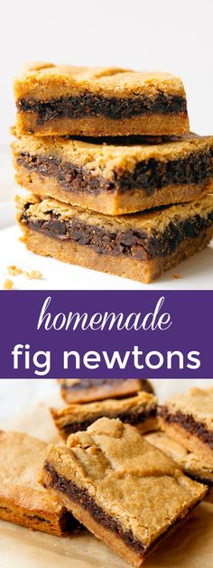 Homemade fig newtons, made with dried figs and a whole wheat crust, even better than store-bought! Such a great kid friendly snack! #fig #healthy #cookies #kidfriendly #kidfood #holiday #baking #holidaybaking