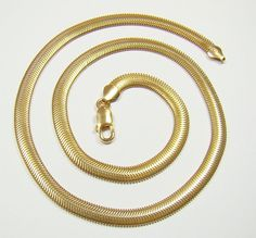 FLAT SNAKE 6.4 .mm chain gold plated  chain  by DawidPandel, zł170.00
