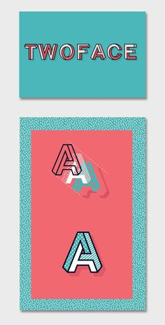 TWOFACE Font has been growing in me since 2012 as I spotted a great impossible shaped font, and since then I wanted to create my own. At the end of last year I Logo Design, Graphic Design Tips, Lettering Design, Graphic Design Inspiration, Type Design, Typography Logo, Logos, Font Logo, Typographie Fonts