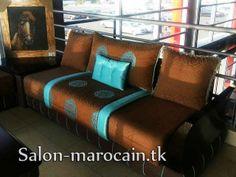 canap marron turquoise moderne 2013 - Decoration Salon Moderne 2013 En Marron