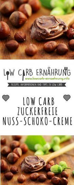 Low Carb Rezept für eine leckere, zuckerfreie Nuss Schoko Creme als herrliche Alternative für Nutella. Low Carb, ohne Zucker und einfach und schnell zum Nachmachen. Perfekt zum Abnehmen.