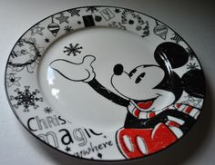 Disney Mickey Mouse Body Parts Dinner Plate by Disney Theme Park Merchandise. $39.95. Not your every day dinnerware. Serve up a meal on this heavy u2026 & Disney Mickey Mouse Body Parts Dinner Plate by Disney Theme Park ...