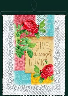 Live..Laugh..Love lace Wall hanging.