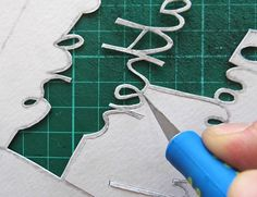 Amazing free tutorial: Paper cutting fundamentals - how to cut tricky letters (and make a gorgeous greeting card). Step-by-step photos and instructions Tuts+.
