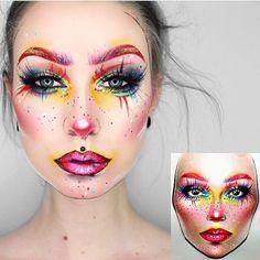 Maquillaje de fan Makeup Drawing, Makeup Art, Sfx Makeup, Facechart Makeup, Makeup Inspo, Tribal Makeup, Clown Makeup, Costume Makeup, Character Makeup